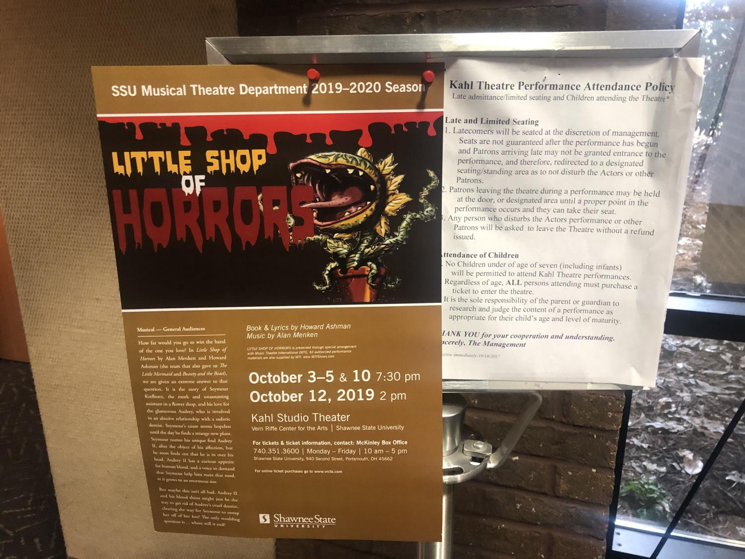 SSU+Little+Shop+of+Horrors+poster+and+attendance+policy