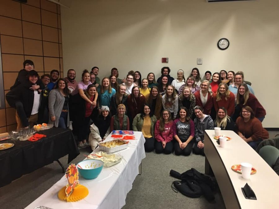 A group photo of members of Shawnee State University Greek Life that were at the event.