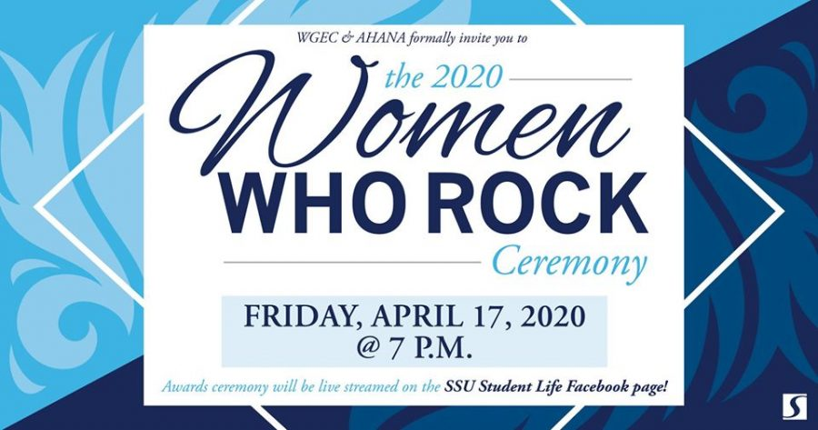 The promotional image used for the 2020 Women Who Rock ceremony